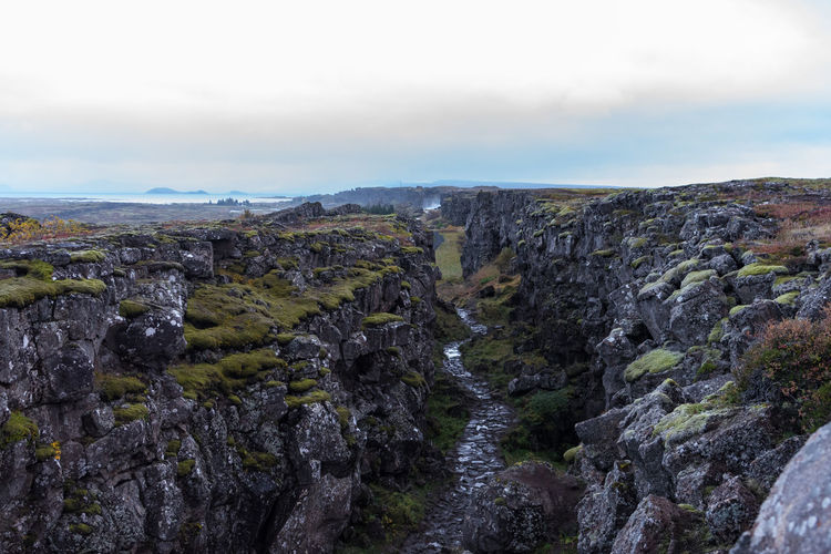 Green Iceland Long Distance  Nature Blue Dawn Day Details Landscape Moss Murky No People No Trees Outdoors Plain Road Trip Rocks Tarveling Tectonic Tourism Valley Waterfall