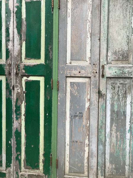 Old door Door No People Backgrounds Pattern Full Frame Green Color Day Close-up Textured  Architecture Wood - Material Old