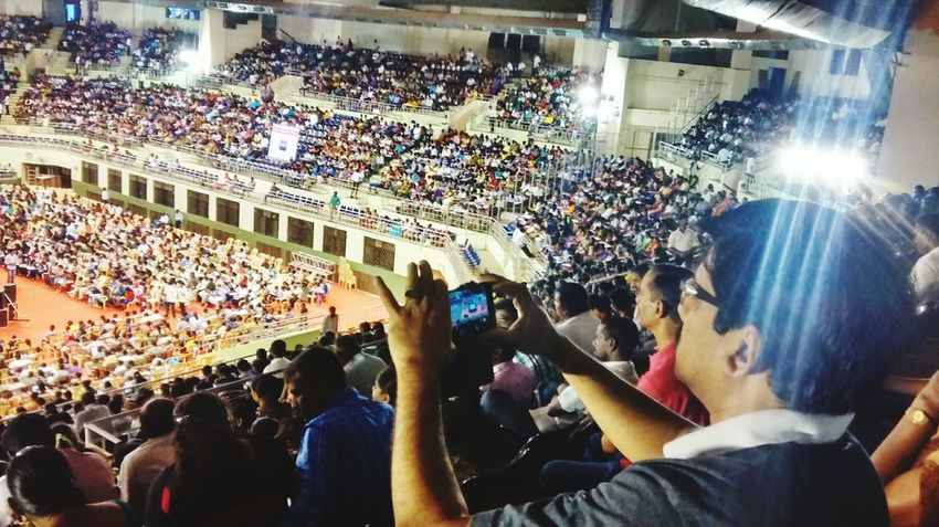 Large Group Of People Crowd Sport Spectator Audience Stadium Match - Sport Soccer Night Women Competition Men Illuminated Fan - Enthusiast Cheering People Real People Sports Event  Indoors  Professional Sport