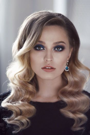 Makeup Model Light Colors Blonde Eyes Girl Portrait Beauty