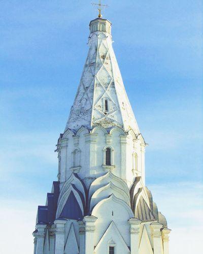 небо коломенск Москва осень ноябрь храм красота Followme