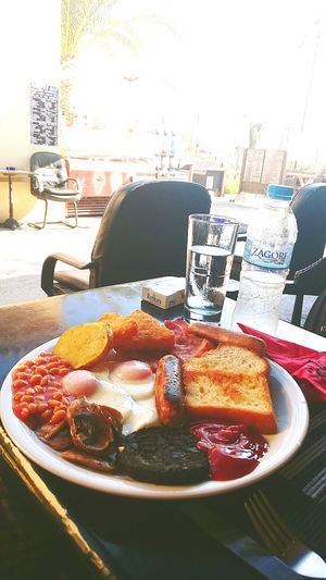 My World Of Food English Breakfast In Corfu Taking Photos Mobile Photography On The Beach