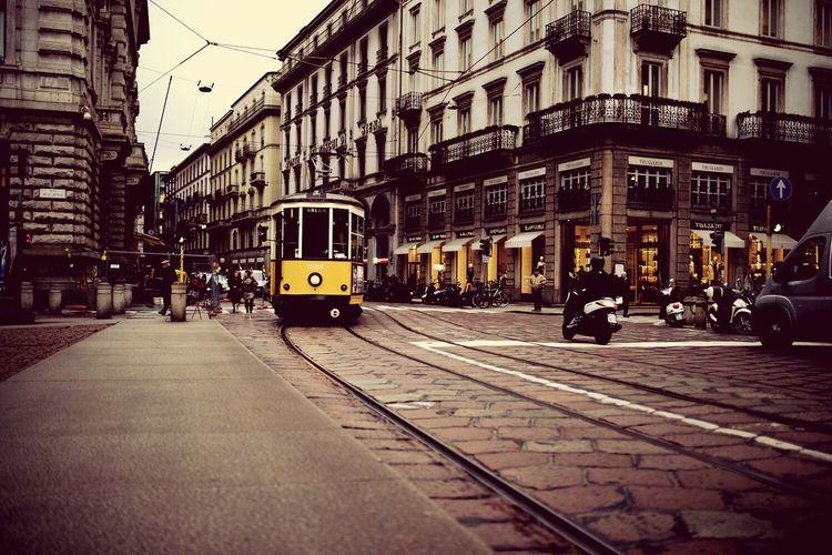 Milano Italy Bus Yellow