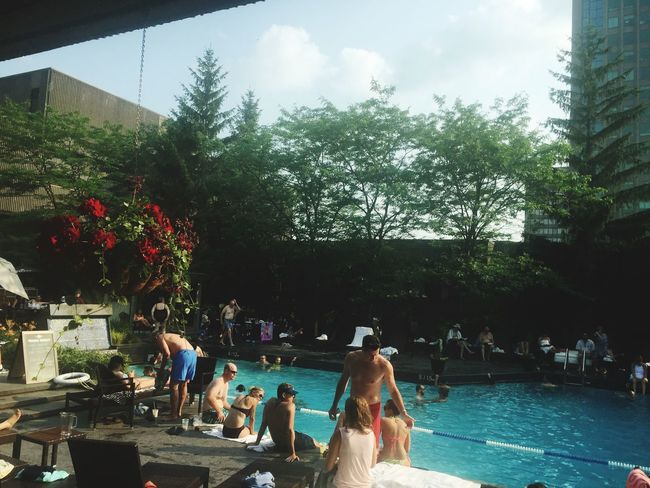 Pool Time Summer ☀ Hilton Hotel Montreal, Canada Beautifulweather