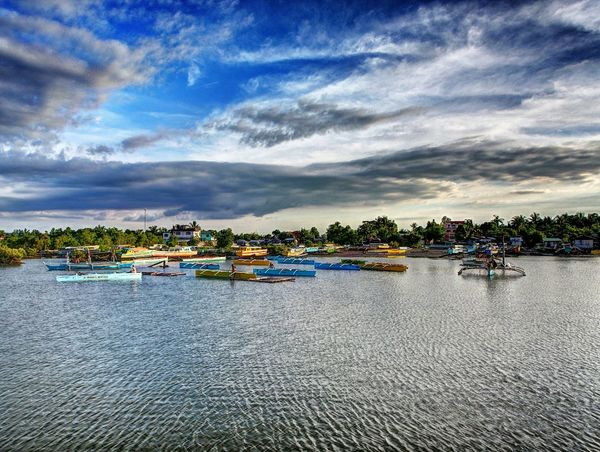 Cloud - Sky Day Fisherboats  Hdr Edit Hundred Islands  Late Afternoon Outdoors Philippines Sea Seascape Water