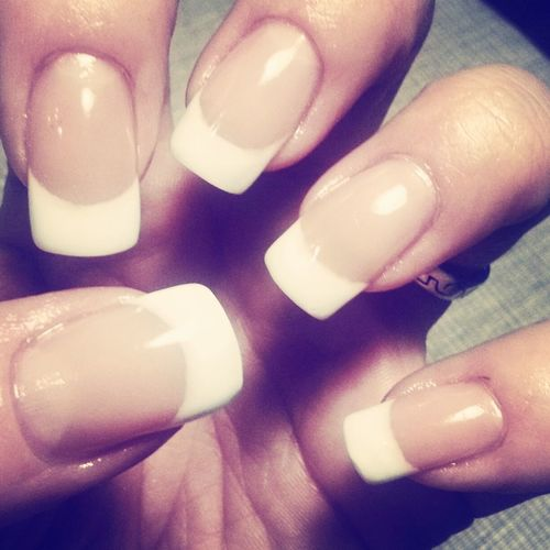 White french manicure :-) Nails Naglar