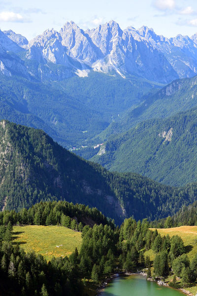 Between Austria & Italy Alm Dream Hiking Adventure Beauty In Nature Day Deep Growth Idylle Lake Landscape Loose Mountain Mountain Range Mountains And Valleys Nature Outdoors Scenics Sky Sweeping View Tranquil Scene Tree Upright Valley Water