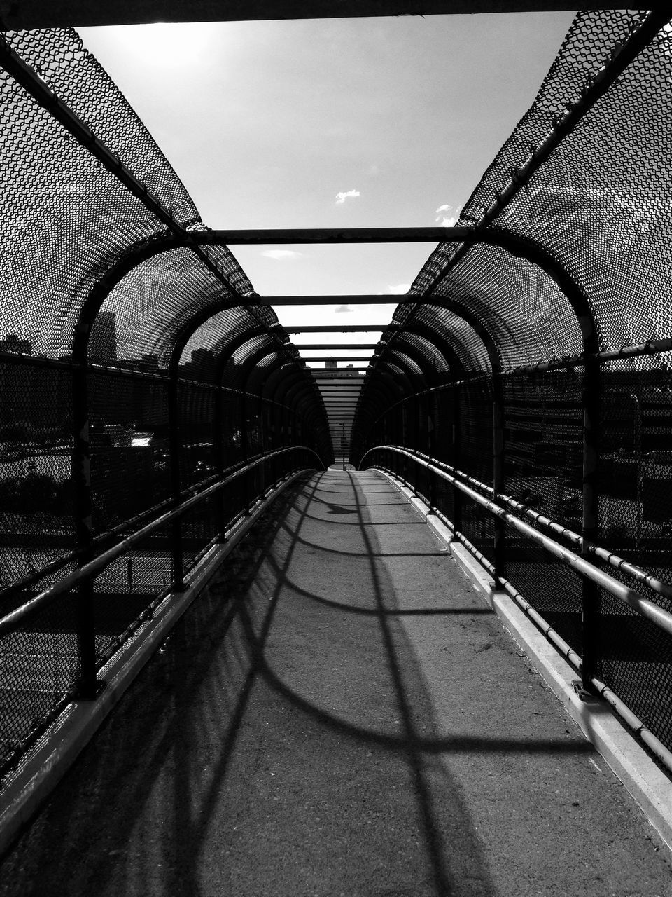 the way forward, diminishing perspective, bridge - man made structure, architecture, built structure, no people, indoors, day, illuminated, sky