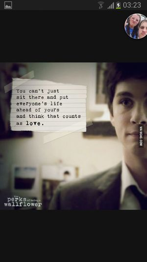 Logan Lerman Check This Out The Perks Of Being A Wallflower Literature