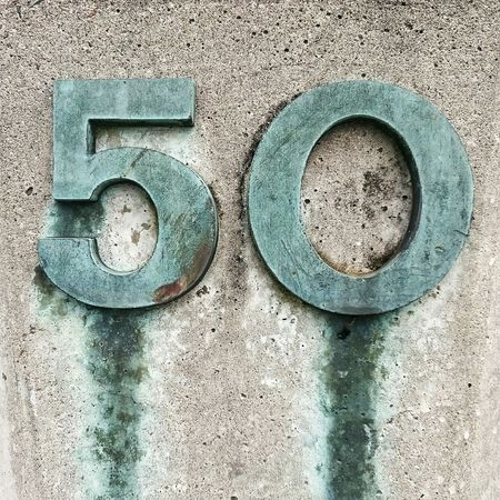 Stone Brass Numbers 50 Fifty Monument Textures And Surfaces Urban