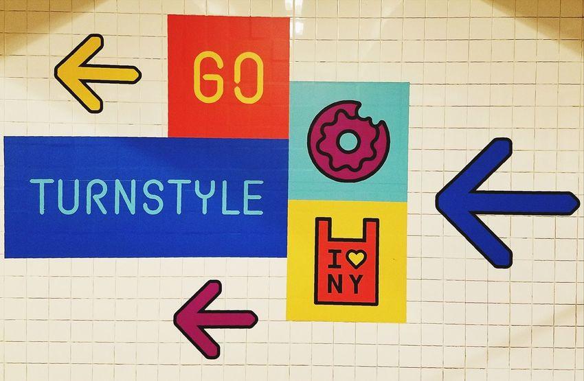 BYOPaper! New York City City Life Subway Station Multi Colored Public Transportation