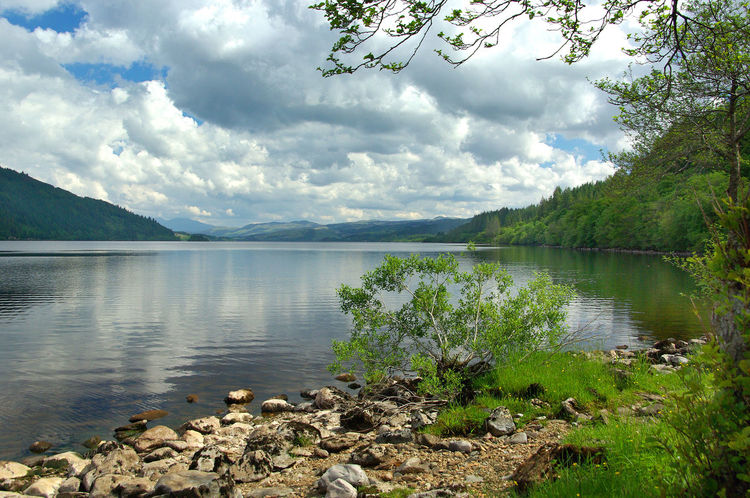 View of Loch Awe Argyll Beauty In Nature Cloud - Sky Dalmally Day Fishing Growth Lake Landscape Loch  Loch Awe Mountain Nature No People Oban Outdoors Reflections In The Water Scenics Scotland Sky Tree Water