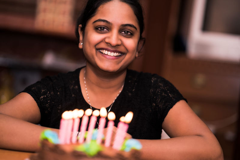 girl celebrating her birthday Indoors  Food And Drink Indian Culture  Plate Close-up Food Birthday Girl♥ Dessert Brithday Gift Birthday Cake Chocolate Covered Cholocate Chocolate Cake
