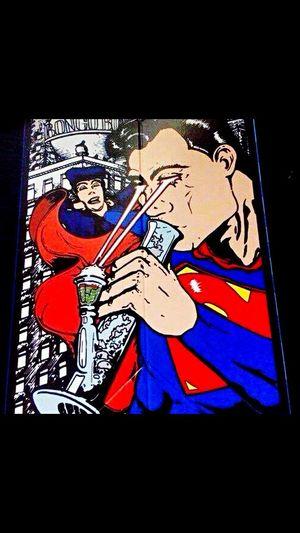 Superman Weed Life Bong Highlife Puffpuffpass