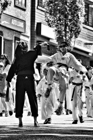 the karate kid Photography Blackandwhite Street Kick Martial Arts