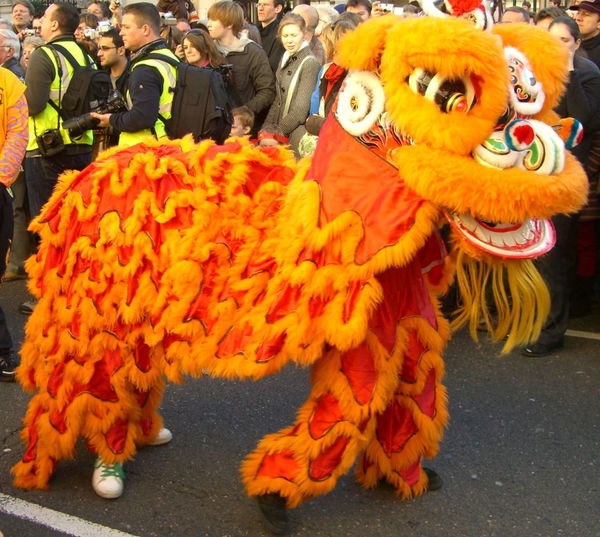 Chinese New Year 2008 - Lion Costume Capital City Chinese Costume Chinese Culture Chinese Lion Dance Chinese New Year Chinese New Year 2008 Close-up Colorful Composition Display Full Frame Fun GB Happy Incidental People London Multi Colored Orange And Red Colour Outdoor Photography Parade Tourism Tourist Attraction  Tourist Destination Traditional Culture Uk