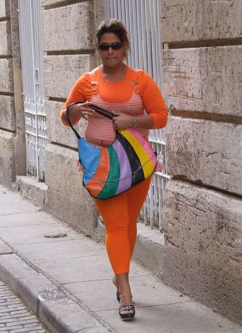 Cuban Woman Casual Clothing Composition Cuba Cuban Front View Full Frame Full Length Handbag  Happiness Havana Leisure Activity Lifestyles Multi Coloured No Incidental People Orange Costume Outdoor Photography Person Portrait Shopping Smiling Standing Tourist Attraction  Tourist Destination Walking Young Woman