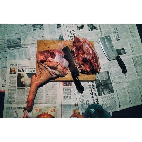 Black boar, home butchered, Shenzhen. Travel Travelphotography Vscocam Ricohgr shenzhen