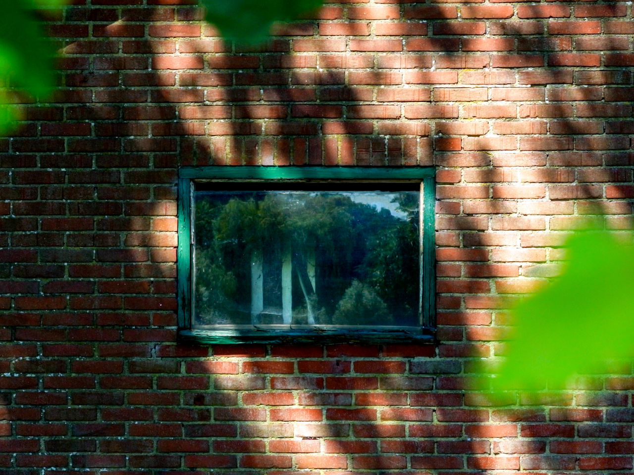REFLECTION OF BUILDING ON WINDOW