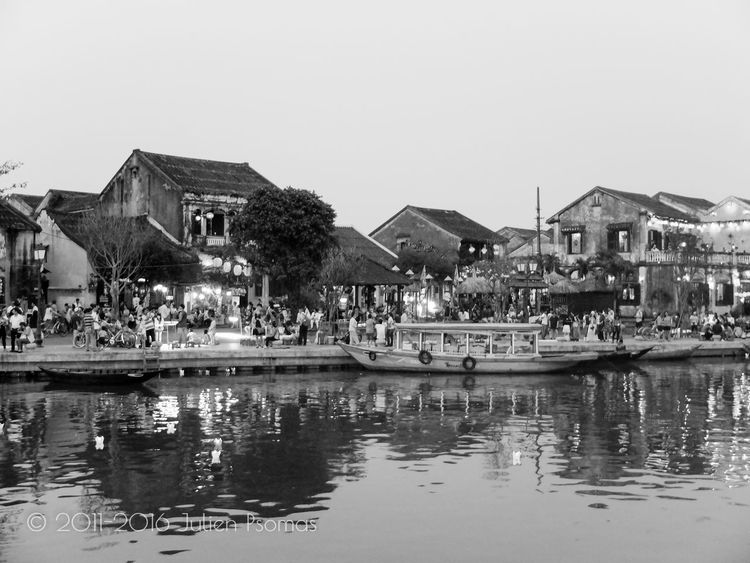 Julien Psomas Ancient City Architecture Black And White Blackandwhite Famous Famous Place Hoi An Hoian  River Vietnam Water Waterfront