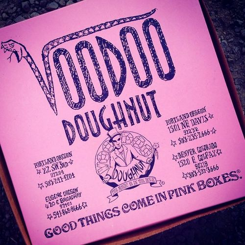 VoodooDonuts at Theblerch Theoatmeal race. Of course!