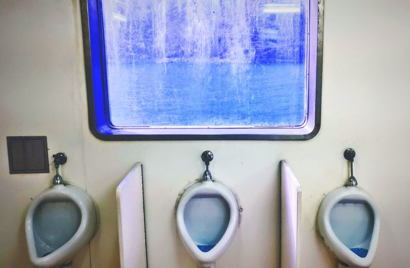 The sea toilet Ferryboat Ferry Sea Ocean View Window To Sea Window To Ocean Toilet Men Toilet Hygiene Beauty Variation Close-up
