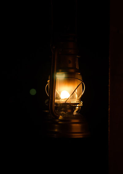 Light bulb at night