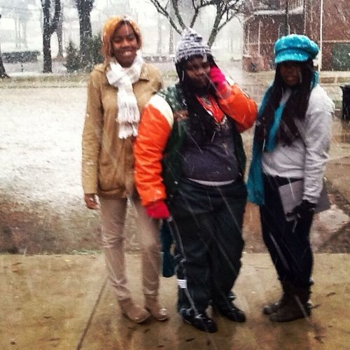 Me and my girls before the snow came down hard!