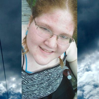 Instasize Blonde_and_red_hair Hazel Eyes  Happy Smile Bored Outside Custombackground Clouds the other day outside
