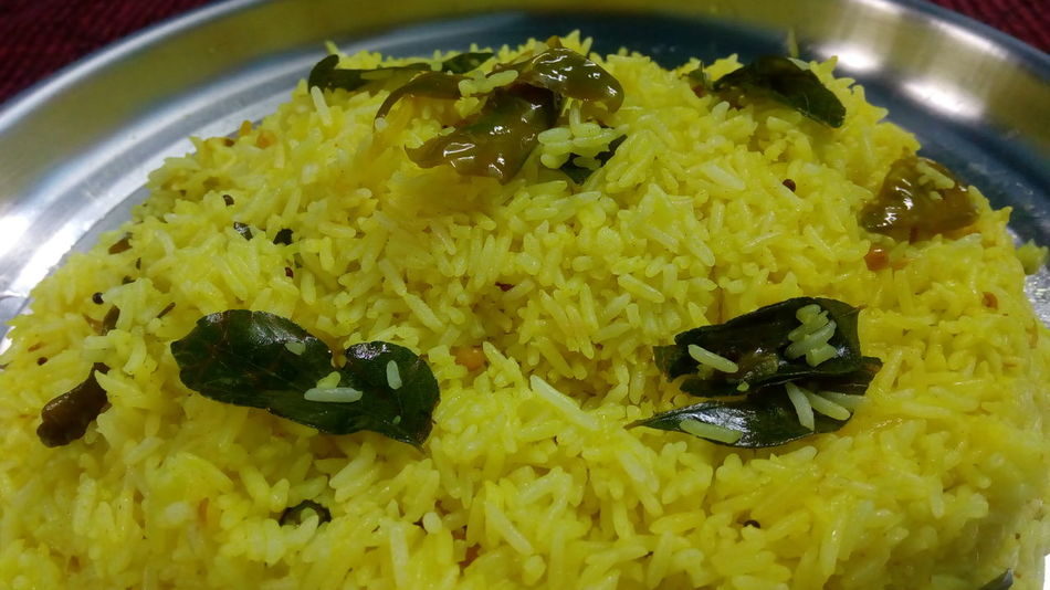 Prepared Lemon rice for the first time.. Food Food And Drink Indoors  Close-up Freshness Healthy Eating No People Ready-to-eat Day Lemon Rice Pulihora Indian Food Indian Food At Its Best Food And Drink
