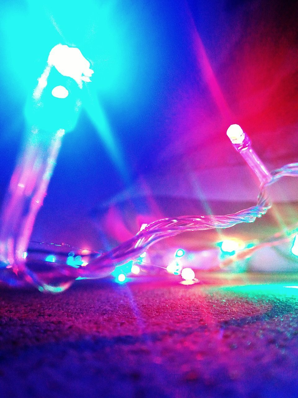 illuminated, lighting equipment, multi colored, night, electricity, long exposure, no people, close-up, blue, indoors, technology