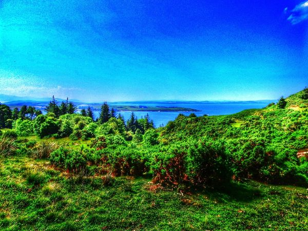 View over the river clyde from the largs hillside. Largs Scotland United Kingdom