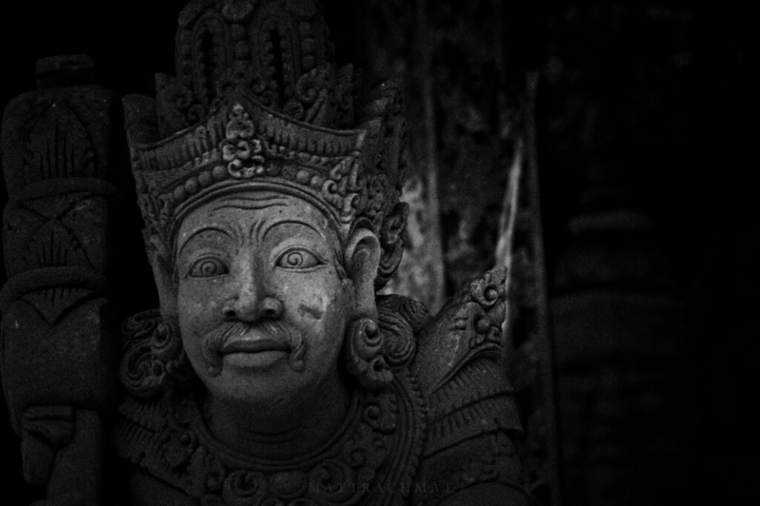 art and craft, art, creativity, statue, sculpture, human representation, religion, carving - craft product, spirituality, history, indoors, place of worship, ancient, carving, stone material, close-up, famous place