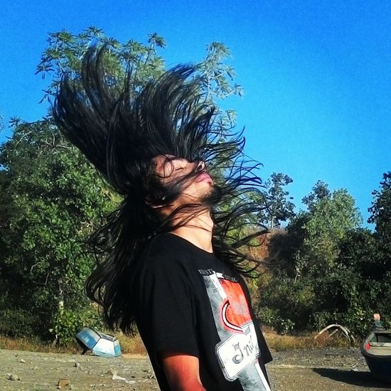 Metalhead \m/ Headbanging Musician Taking Photos