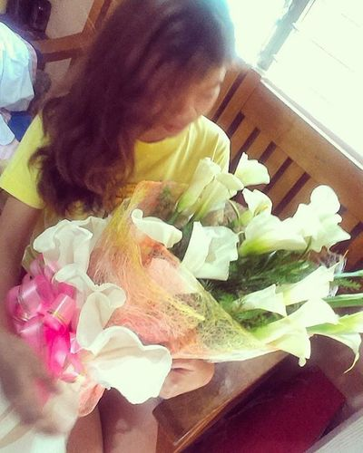 So someone really asked for my favorite flowers... Thank you for the early surprise. Callalily