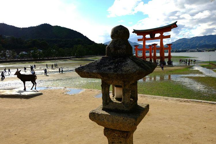 Itsukushima Shrine - different perspective Itsukushima Shrine Shrine Nihon Eye4photography  Backpacker Travel