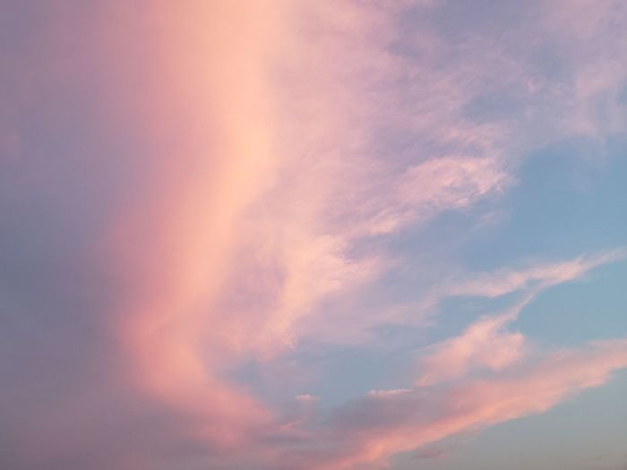 Twlight Pink Color Sunset Backgrounds Sky Only Full Frame Abstract Pink Color Spirituality Dramatic Sky Sky Cloud - Sky Heaven Fluffy Infinity Cloudscape Wispy Cumulonimbus Cumulus Cloud