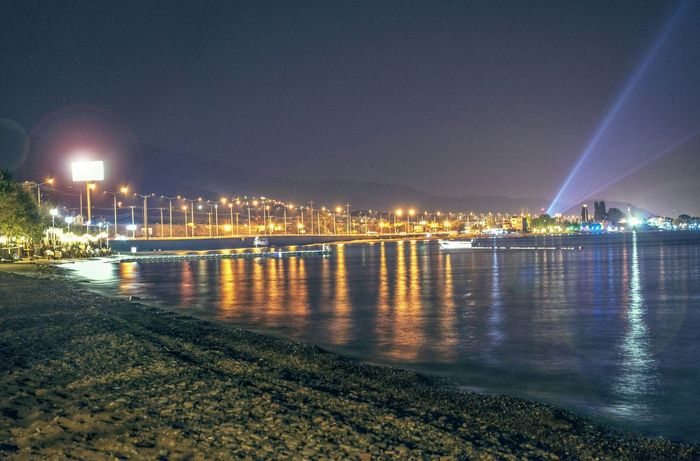 Long Exposure Beach Light Photography