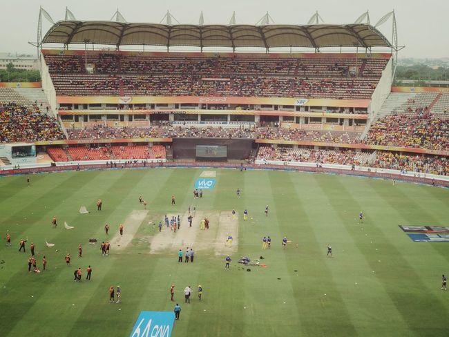 IPL Match Check Thiw Out EyeEm Best Shots EyeEmNewHere EyeEm Gallery IPLFever Ipl Cricket! Csk Srh Stadium Sport Baseball Team Playing Field Team Sport Group Of People Match - Sport Aerial View