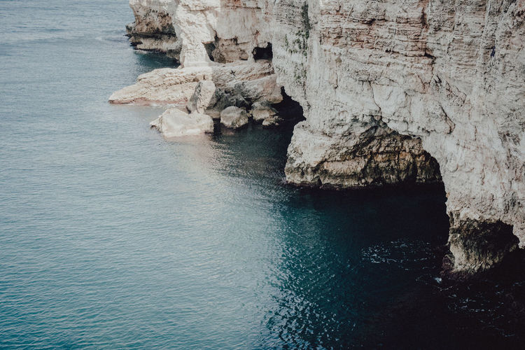Coastline Travel Beauty In Nature Cliff Coast Day Italy Nature No People Ocean Outdoors Physical Geography Rock - Object Rock Formation Scenics Sea Seascape Sky Tranquil Scene Tranquility Water Waterfront