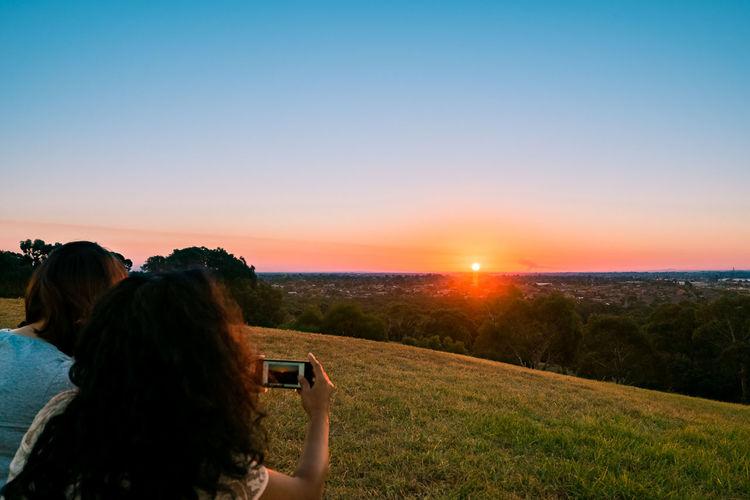 Australia Australian Landscape HDR Hills Hillside Landscape Melbourne Photographing Sky Sunset Two People