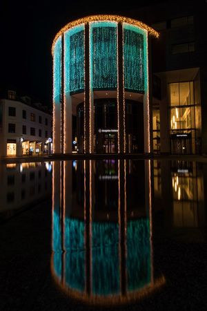Denmark Hjørring City Night Built Structure Architecture Illuminated No People Building Exterior Outdoors