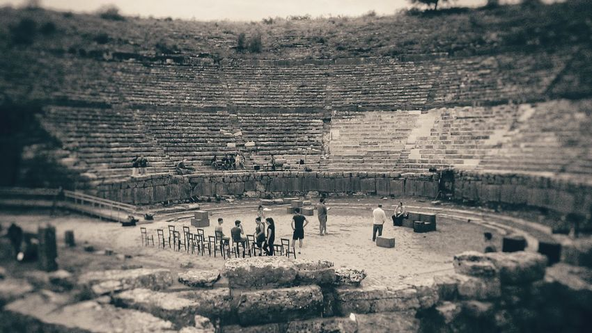 Theatre Theatrelife Real People Large Group Of People Outdoors Vacations Day Lifestyles Men Nature People Sky Adults Only Work Play Ancient Theatre People Photography People And Places. Ancient Civilization