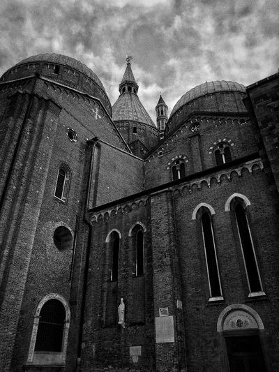 Padova, Aprile 2019 Blackandwhite City Sky And Clouds Church Spirituality Religion Low Angle View Architecture Building Exterior Built Structure