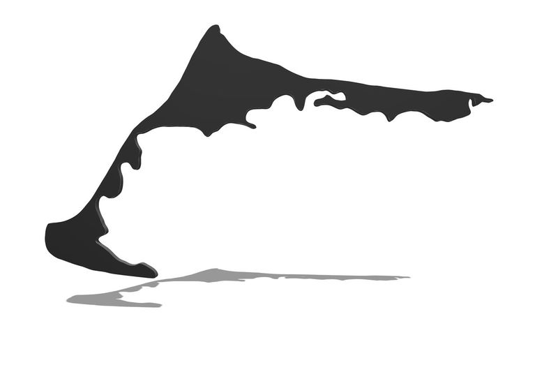 Silhouette of the peninsula Zingst, Darß and Fischland in 3D with shadow White Background Studio Shot One Person Silhouette Indoors  Dancing Low Section Human Leg Human Body Part Lifestyles Women Full Length Nature Cut Out Adult Leisure Activity Shadow Art And Craft Real People Arms Raised #NotYourCliche Love Letter