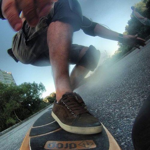 Forehand Frontside Surf the asphalt