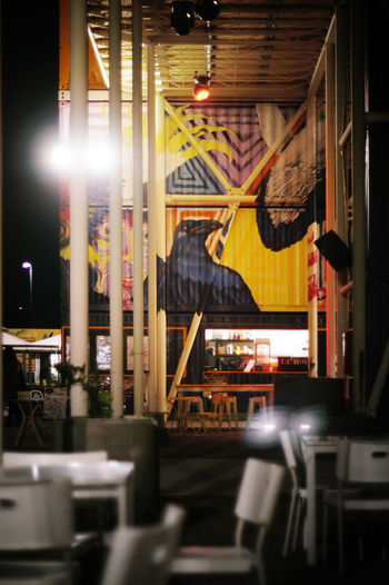 Habibiz collection of container restaurants in Canberra with great graffiti art Architectural Detail Architecture Architecture Built Structure Canberra Canberra City Canberraart Canberraatnight Canberralife Container Design Food Graffiti Graffiti Art Hipster Illuminated Lifestyles Multi Colored Outdoor Eating Restaurant Decor Yellow