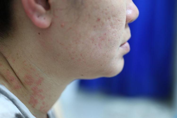 Close-up of human neck