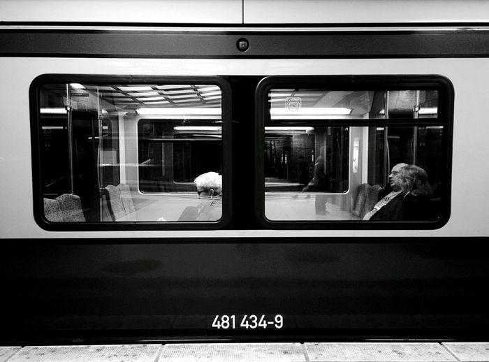 Day 257 - S-Bahn passengers Berlin Blackandwhite Public Transportation Streetphotography Streetphoto_bw Sbahn 365project 365florianmski Day257