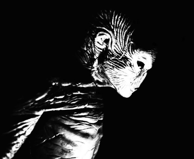 A Reflection Alien Film The X-Files Black And White Black Background Close-up Dark Fight The Future Indoors  Movıe Portrait Science Fiction